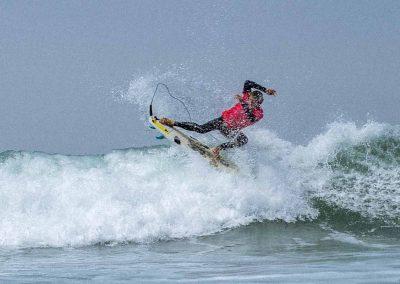 Surfing Malibu waves