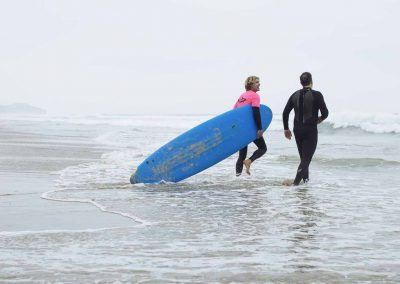 Malibu Makos instructor leads private surf lesson