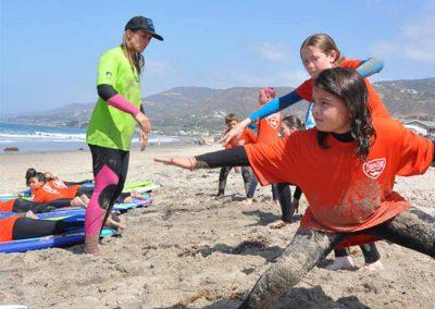 Beginning surf instruction