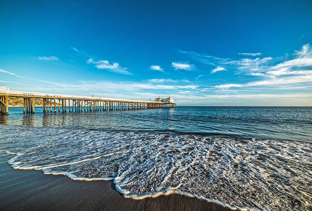 Malibu pier is a jetty