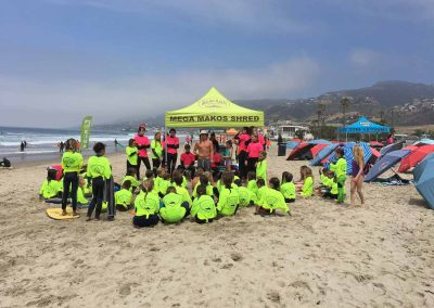 Malibu Makos campers gather for instruction